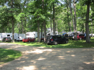 Camper Area w electric, water & sewer hookups 1